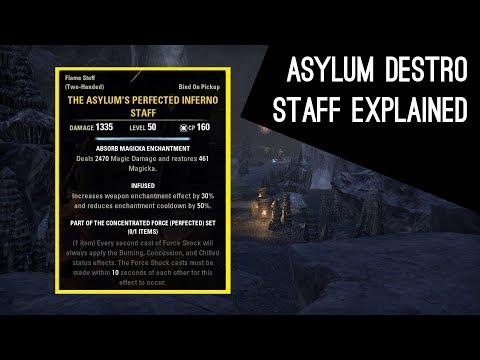 Asylum Destruction Staff explained, how does it work - Dragon Bones DLC