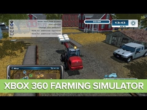 Farming Simulator Xbox 360 Gameplay: BEES and CHICKENS in Farming Simulator 2013 (Ep. 3)