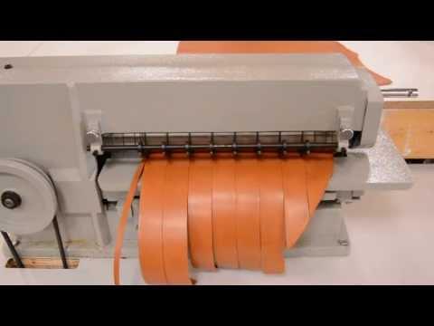 Leather Strap Cutting Machine Demo