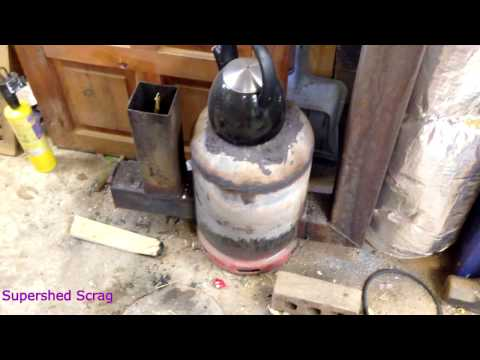 How to build a gas bottle rocket stove update