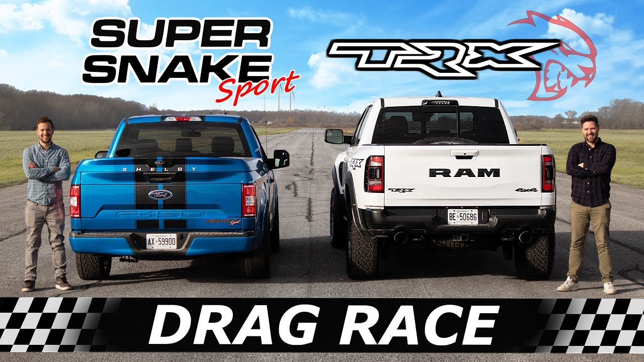 2021 RAM TRX vs 770HP Shelby F-150 Super Snake Sport // DRAG & ROLL RACE