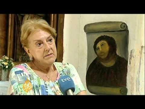 Bungled restoration attempt destroys painting
