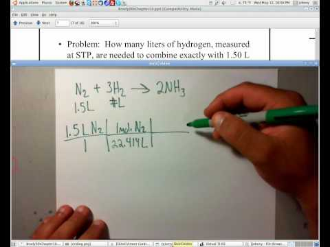 Stoichiometry at STP for Gases | www.whitwellhigh.com