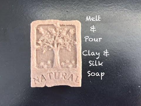 Making Bentonite Clay & Silk Organic Soap