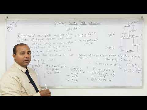 Class 10 Surface Areas and Volumes  (Part-10)