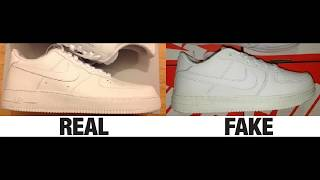 12cdbf85d41 03 02 · How To Spot Fake Nike Air Force 1 Sneakers   Trainers Authentic vs  Replica Comparison
