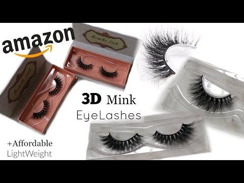 Amazon 3D MINK EYELASHES |Affordable | 1st Impression |Review