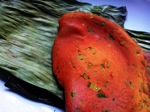 Microwave Rice Panki - Gujarati snack recipe