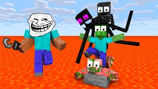 Monster School : EPIC FLOOR IS LAVA CHALLENGE - Minecraft Animation