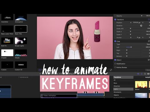 HOW TO USE KEYFRAMES TO ANIMATE IMAGES, TEXT, AND VIDEOS IN FINAL CUT PRO X | BEAUTY EDITING 101