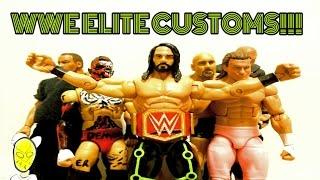 EPIC WWE CUSTOM ELITES!! Summerslam 2016 Seth Rollins, Universal Belt, Goldberg, & More!