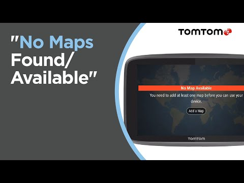 What to do if your device displays No Maps Found