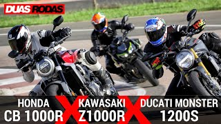 Download COMPARATIVO   HONDA CB 1000R x KAWASAKI Z1000R x DUCATI MONSTER Video