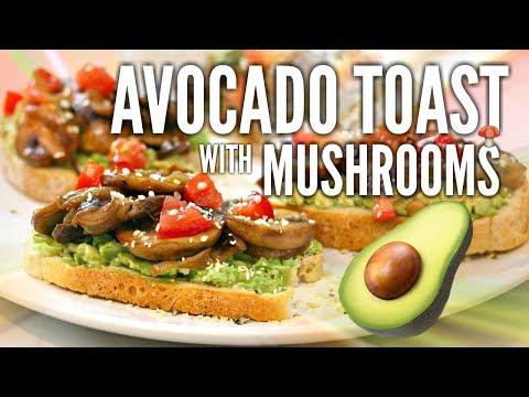 The Ultimate Avocado Toast with Sauteed Mushrooms (Vegan Recipe)