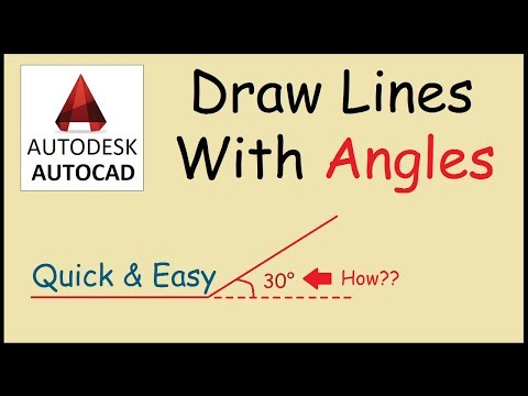 How to draw a line at an angle in Autocad