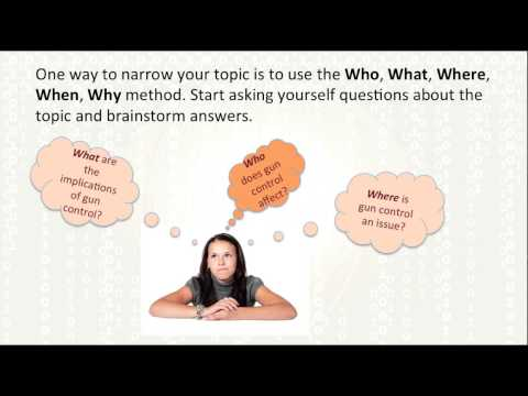 Selecting a Research Topic & Formulating a Research Question