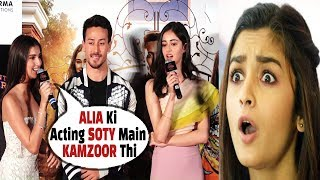 Download OMG Alia Bhatt GRILLED by Tara Sutaria & Ananya Pandey In Front Of Tiger Shroff | SOTY2 Video