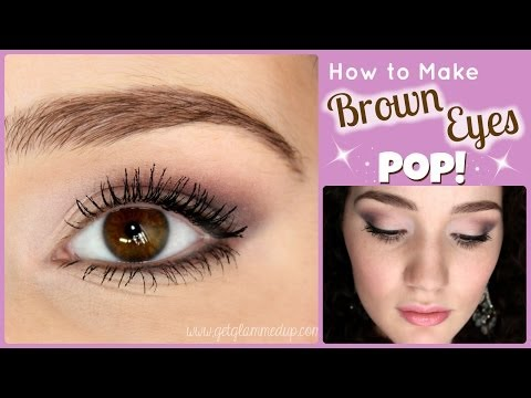 How to Make Brown Eyes Pop Makeup Tutorial