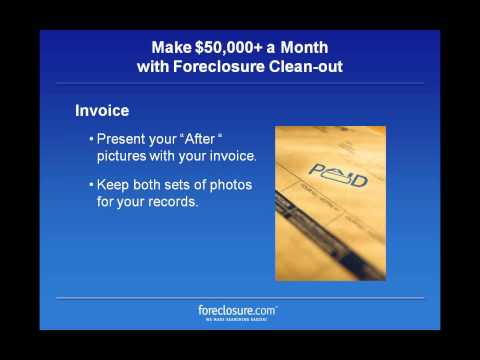Make 50,000 A Month with Foreclosure Clean Out