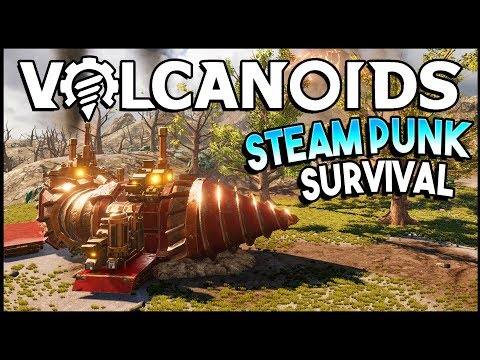 VOLCANIC ERUPTION! NEW Steampunk Survival Game (Volcanoids Gameplay)