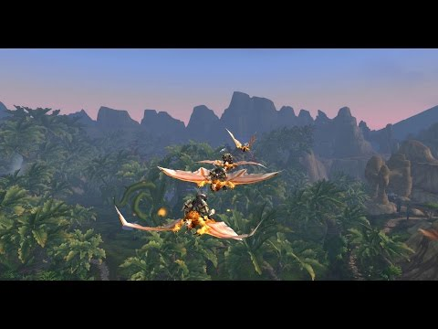 Flying over Gorgrond (Warlords of Draenor Beta)