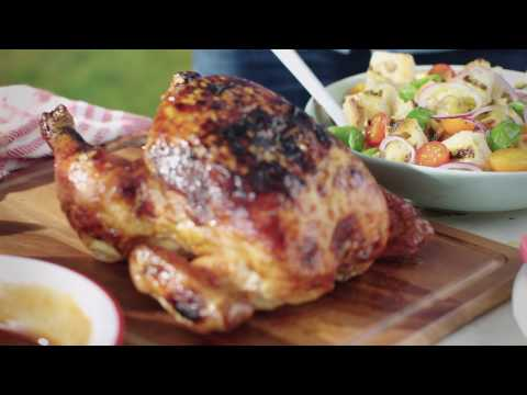 Maple BBQ Beer Can Chicken
