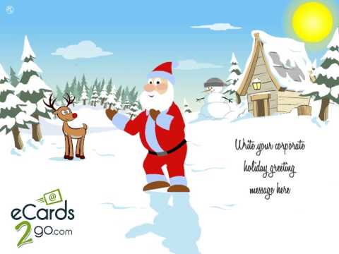 Animated Christmas eCards - Dancing Santa in the Snow by eCards2go.com