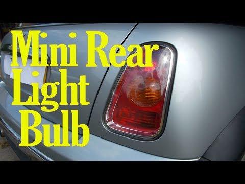 Mini rear light bulb change