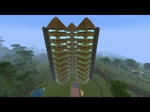 Minecraft - HUGE WHEAT - POTATO - CARROT FARM - Veggie Central!