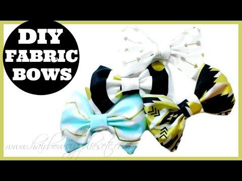 Fabric Hair Bow Tutorial - DIY Fabric Bows - Hairbow Supplies, Etc.