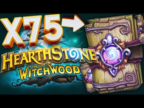 OPENING 75X HEARTHSTONE WITCHWOOD PACKS!