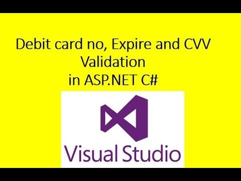 Debit card no, Expire and CVV Validation in ASP.NET C#