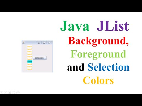Java JList - Set Background,Foreground and Selection Colors