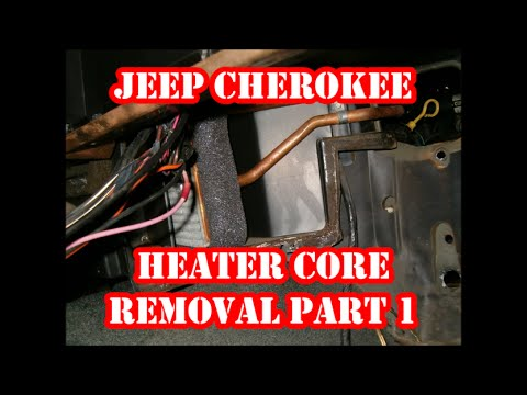 JEEP CHEROKEE  HEATER CORE REMOVAL PART 1