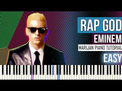 How To Play: Eminem - Rap God | Piano Tutorial EASY + Sheets