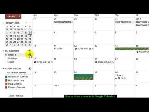 How to share calendar in Google Calendar