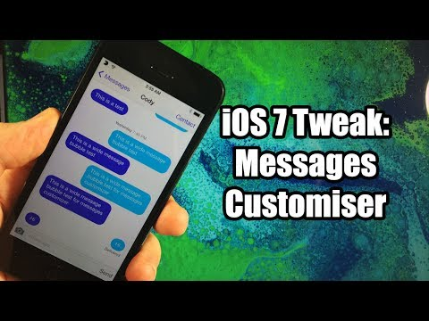 iOS 7 Jailbreak Tweaks: Messages Customiser - FREE