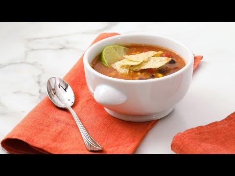 Tortilla Soup with Black Beans- Martha Stewart