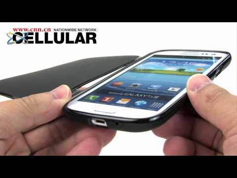 Samsung Galaxy S III Silicone cases with built-in flip cover