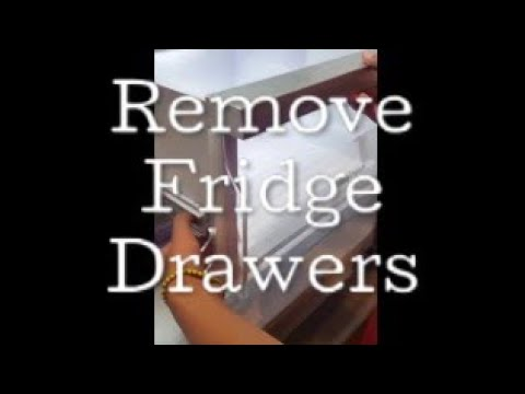 How to remove refrigerator drawers (to clean)