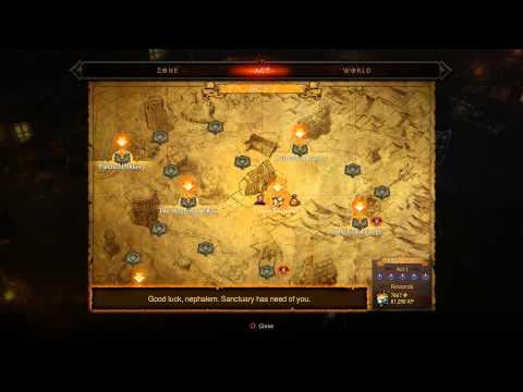 Diablo III Ultimate Evil Edition - Adventure Mode: Tyrael Sancuarary Map Info Bounties Tutorial PS4