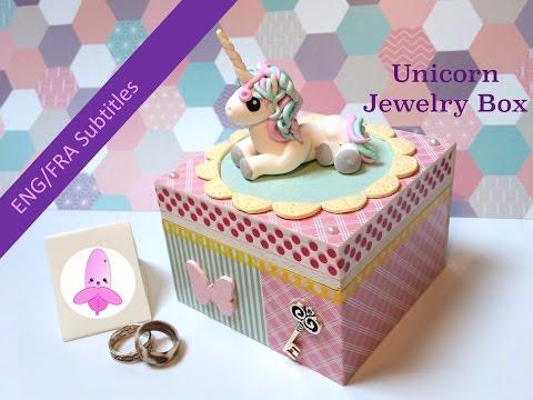 DIY Unicorn jewelry box - Polymer clay tutorial