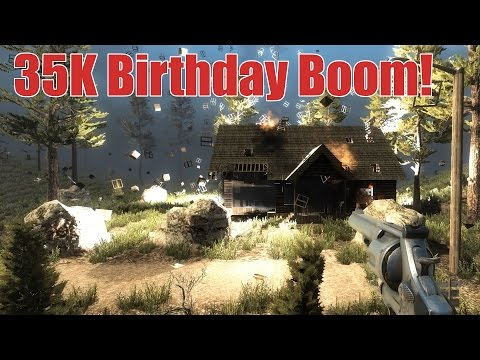 35K Birthday Boom! (7 Days to Die Oil Barrel Explosion)