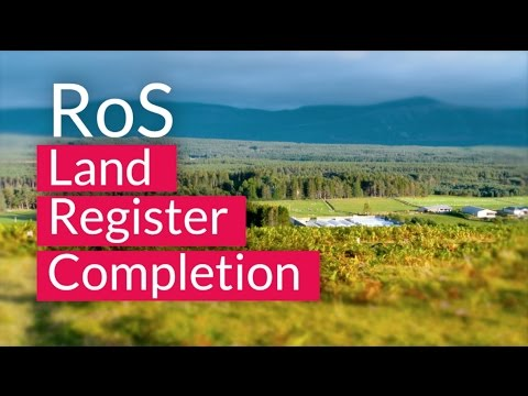 Land Register Completion | Local Authorities | Registers of Scotland