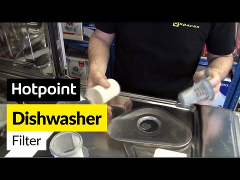 How to replace a dishwasher filter on a Hotpoint dishwasher