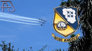 "U.S. Navy BLUE ANGELS ""America Strong"" Flyover at Aventura, Florida"
