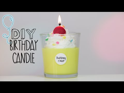 DIY BDAY Cake Candle