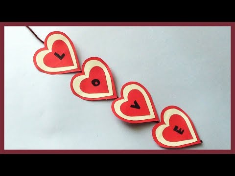 DIY Room Wall Decoration Idea for Valentine Day
