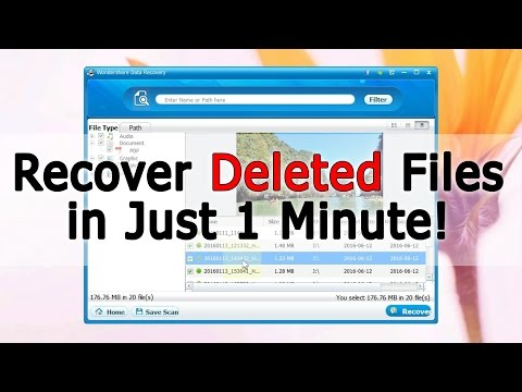 How To Get Back Deleted Files in 1min? (Wondershare Data Recovery App)