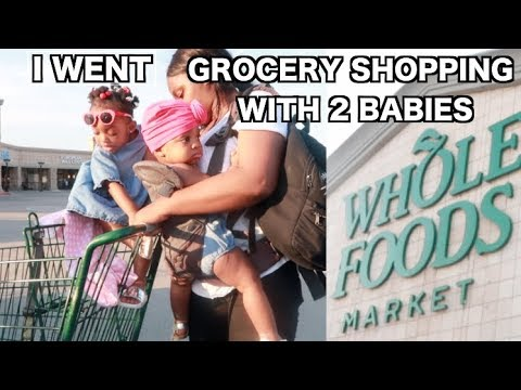 GROCERY SHOPPING WITH 2 BABIES ALL ALONE. EXPERIMENT